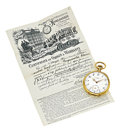 Timepieces:Pocket (post 1900), Patek Philippe & Co. Important Gold Pocket Watch Made ForFrederick Van Voorhies Holman, Chronometrically Adjusted, Guillaume...