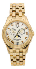 Timepieces:Wristwatch, Patek Philippe Ref. 5036/1J-001 Men's Gold Astronomic AnnualCalendar Wristwatch With Power Reserve Indicator. ...