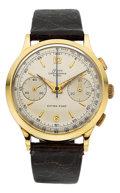 "Timepieces:Wristwatch, Onsa ""Extra-Fort"" Large & Fine 18k Gold Chronograph, Valjoux22, circa 1950's. ..."