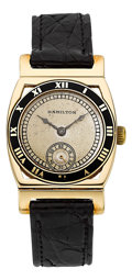 Timepieces:Wristwatch, Hamilton 14k Gold Piping Rock, circa 1937. ...