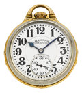 Timepieces:Pocket (post 1900), Illinois 23 Jewel Sixty Hour 163E Bunn Special, circa 1936. ...