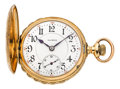 Timepieces:Pocket (post 1900), Illinois Scarce 14k Gold Hunter Case Bunn Special, circa 1922. ...