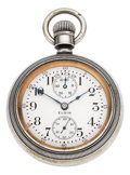 Timepieces:Pocket (post 1900), Elgin 18 Size 21 Jewel B.W. Raymond Wind Indicator, Gold InlayCase, circa 1911. ...