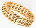 """Luxury Accessories:Accessories, Chanel Gold CC Bangle Bracelet. Good Condition. 7.5"""" Length. ..."""