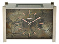 Timepieces:Clocks, Patek Philippe Solar Clock With Rare Enameled Case & Dial, circa 1965. ...