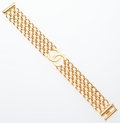 """Luxury Accessories:Accessories, Chanel Gold Chain CC Bracelet. Very Good Condition. .5Width x 7.5"""" Length. ..."""