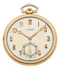 Timepieces:Pocket (post 1900), Gruen For Gubelin 18k White & Rose Gold Watch . ...