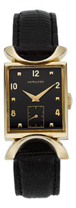 "Timepieces:Wristwatch, Hamilton Gent's Gold ""Robert"", circa 1950. ..."
