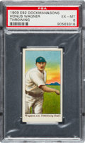 Baseball Cards:Singles (Pre-1930), 1909 E92 Dockman & Sons Honus Wagner/Throwing PSA EX-MT 6....