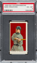 Baseball Cards:Singles (Pre-1930), 1909 E92 Dockman & Sons Sam Crawford PSA EX-MT 6 - Only OneHigher....