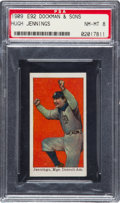 Baseball Cards:Singles (Pre-1930), 1909 E92 Dockman & Sons Hugh Jennings PSA NM-MT 8 - TheUltimate PSA Example! ...
