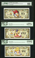 Miscellaneous:Other, Disney Dollars 2005 Three Different Denominations.. ... (Total: 3notes)
