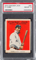 Baseball Cards:Singles (Pre-1930), 1914 Cracker Jack Ty Cobb #30 PSA NM-MT 8. Only One Higher!...