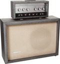 Musical Instruments:Amplifiers, PA, & Effects, 1960's Silvertone Model 1483 Gray Guitar Amplifier, Serial # 18511030....