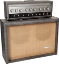Musical Instruments:Amplifiers, PA, & Effects, Circa 1964 Silvertone Model 1484 Twin Twelve Grey Guitar Amplifier....