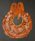 Rugs & Textiles:Textiles, Nicki Marx (American , 20th Century). Fringed Collar, 2014.Chicken feathers and leather. 15 inches neck diameter (38.1 ...