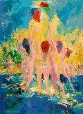Mainstream Illustration, Leroy Neiman (American, 1921-2012). Some Sun Fun, 1970. Oilon board. 32.25 x 24 in.. Signed lower left. Signed, titled,...