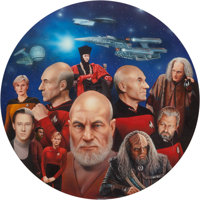 Keith Birdsong (American, 20th Century) All Good Things, Star Trek: New Generation Hamilton Collector Plate