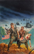 Mainstream Illustration, Keith Birdsong (American, 20th Century). Chopper 1, Warrior Skypaperback cover, 1989. Colored pencil, acrylic, and wate...