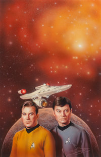 Keith Birdsong (American, 20th Century) The Better Man, Star Trek paperback cover, 1998 Colored penc