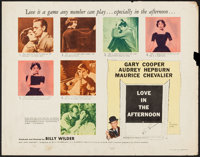 """Love in the Afternoon (Allied Artists, 1957). Half Sheets (2) (22"""" X 28"""") Style A & B. Romance. ... (T..."""