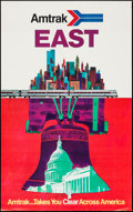 "Movie Posters:Miscellaneous, Amtrak East (Amtrak, 1973). Travel Poster (25"" X 40"").Miscellaneous.. ..."