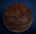 Lapidary Art:Tables / Tabletops, Tiger Iron Round Tabletop. Ord Ranges, Pilbara, Western Australia. ...