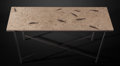 Lapidary Art:Tables / Tabletops, Fossil Fish Console Table. Knightia sp.. Eocene , Green River Formation. Wyoming, USA. ... (Total: 2 Items)