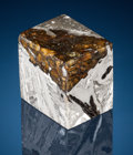 Meteorites:Palasites, Cube of Siberia's Seymchan Meteorite - Cut and PolishedExtraterrestrial Paperweight . Pallasite - PMG . MagadanDistr...