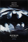 "Movie Posters:Action, Batman Returns Lot (Warner Brothers, 1992). One Sheets (2) (27"" X40""), SS Advance & DS Advance Logo Style. Action.. ... (Total:2 Items)"