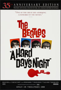 """A Hard Day's Night (Miramax, R-1999). One Sheet (27"""" X 40"""") SS Advance. Rock and Roll"""