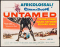 "Movie Posters:Adventure, Untamed (20th Century Fox, 1955). Half Sheet (22"" X 28"").Adventure.. ..."