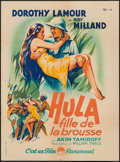 "Movie Posters:Adventure, The Jungle Princess (Paramount, 1937). French Affiche (23.25"" X31.25""). Adventure.. ..."