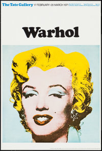 "Marilyn Monroe by Andy Warhol (Tate Gallery, 1971). British Art Gallery Poster (20"" X 30""). Miscellaneous"