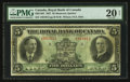 Canadian Currency: , Montreal, PQ- Royal Bank of Canada $5 Jan. 3, 1927 Ch # 630-14-04....