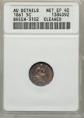Seated Half Dimes, 1861 H10C -- Cleaned -- ANACS. AU Details, Net XF40. Breen-3102. NGC Census: (6/604). PCGS Population (15/529). Mintage: 3,...