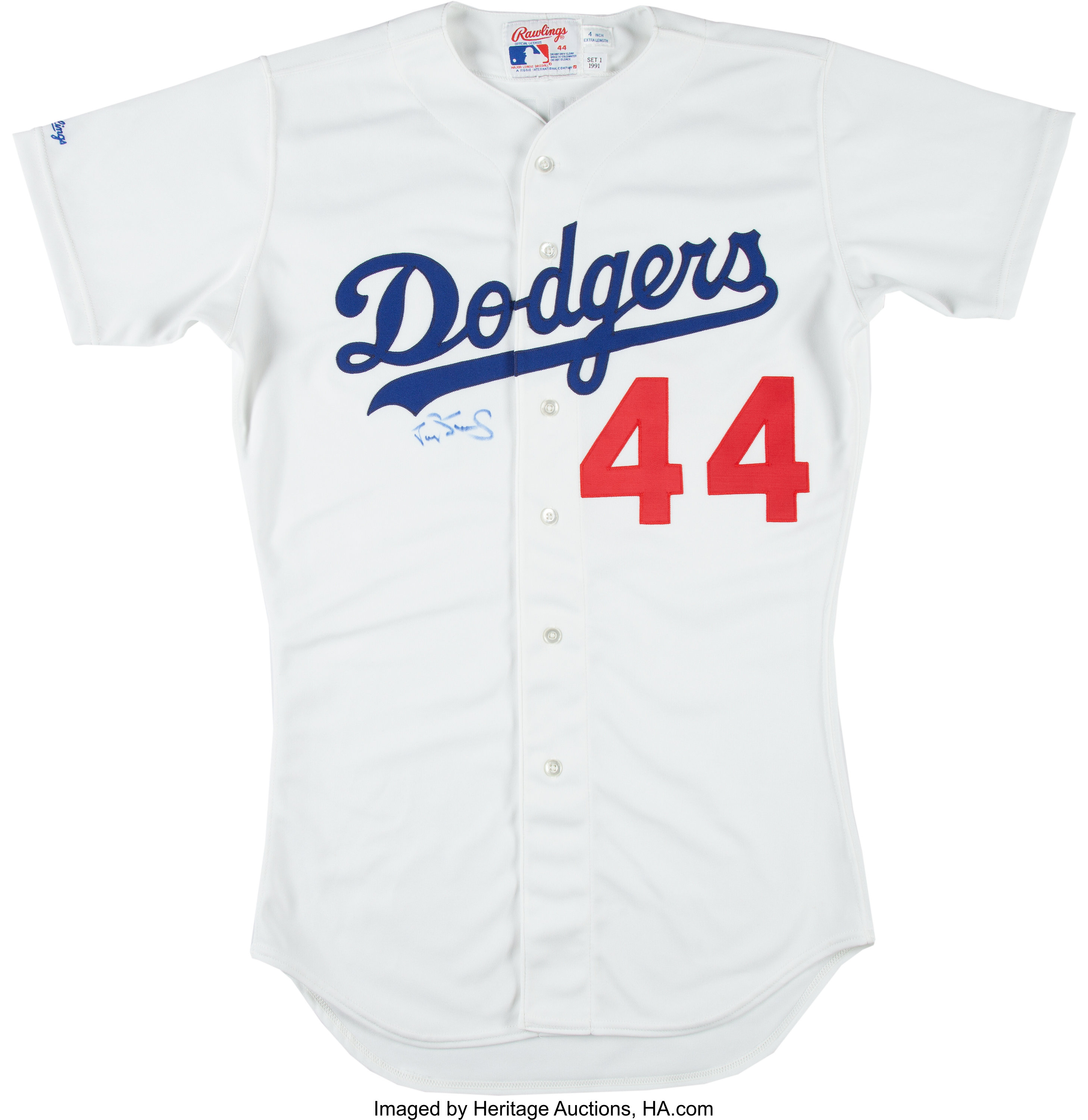 9850dc449 1991 Darryl Strawberry Game Worn Los Angeles Dodgers Jersey. ... | Lot  #14808 | Heritage Auctions
