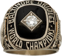 1966 Baltimore Orioles World Series Championship Ring from The Brooks Robinson Collection