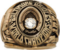 Baseball Collectibles:Others, 1970 Baltimore Orioles World Series Championship Ring from TheBrooks Robinson Collection....