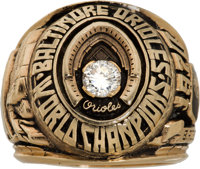 1970 Baltimore Orioles World Series Championship Ring from The Brooks Robinson Collection