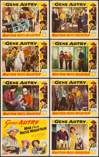 "Man from Music Mountain (Republic, R-1940s). Lobby Card Set of 8 (11"" X 14""), & Pressbook (9.5"" X 11..."