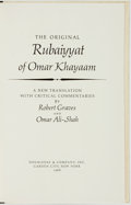 Books:Literature Pre-1900, Robert Graves and Omar Ali-Shah, translation. SIGNED/LIMITED.The Original Rubaiyyat of Omar Khayaam. Garden Cit...