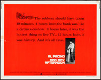 """Dog Day Afternoon (Warner Brothers, 1975). Half Sheet (22"""" X 28""""). Action"""