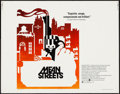 "Movie Posters:Crime, Mean Streets (Warner Brothers, 1973). Half Sheet (22"" X 28"").Crime.. ..."