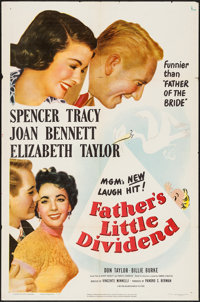 """Father's Little Dividend (MGM, 1951). One Sheet (27"""" X 41""""). Comedy"""
