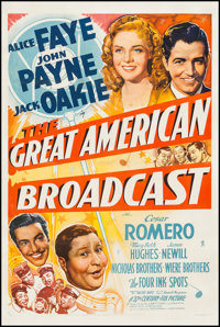 """The Great American Broadcast (20th Century Fox, 1941). One Sheet (27.25"""" X 41""""). Comedy"""