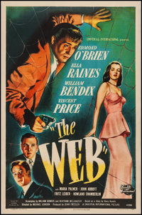 "The Web (Universal International, 1947). One Sheet (27.25"" X 41""). Film Noir"