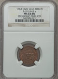 Civil War Tokens, 1863 Civil War Token, Pro Bono Publico, F-191/443a, MS64 BrownNGC....