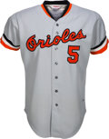Baseball Collectibles:Uniforms, 1977 Brooks Robinson Game Worn Baltimore Orioles Road Uniform....