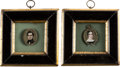 Antiques:Decorative Americana, [George Washington]: Pair of Miniatures of WashingtonDescendants.... (Total: 2 Items)
